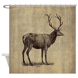Vintage Antler Shower Curtain - new price