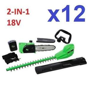 12 NEW DOC POLE SAW  HEDGE TRIMMER 559-581 235985058 18V 2-IN-1
