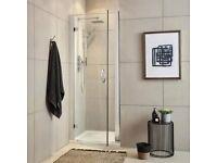 hinged shower enclosure door