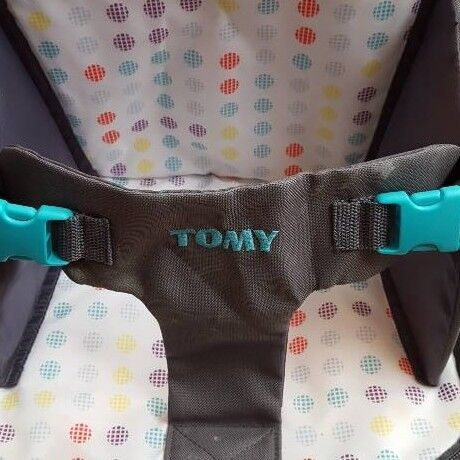 Tomy baby feeding chair and changing bag