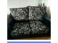 Two 2 seater Fabric couches