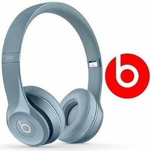 REFURB BEATS SOLO 2 HEADPHONES GREY ON-EAR MUSIC BOOKS COMMENTARY  81909938