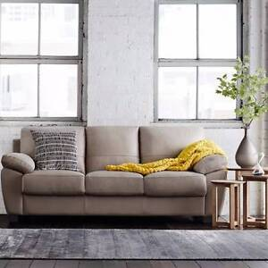 Freedom Furniture 3 seater leather sofa Bellevue Hill Eastern Suburbs Preview
