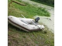 2.6m rib boat with outboard
