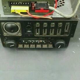 Ford escort rs turbo / original radio cassette / graphic equaliser / amp