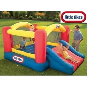 NEW LITTLE TIKES DRY BOUNCER 620072 187639794 INFLATABLE JUMP N SLIDE W/ PUMP
