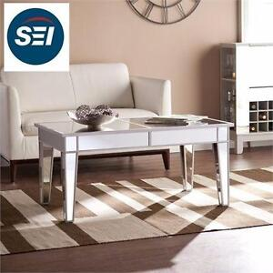 "NEW SEI MIRRIRED COCKTAIL TABLE   Overall: 42.25"" W x 23.75"" D x 20"" H HOME LIVING ROOM FURNITRE COFFEE TABLE 97656766"