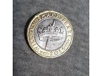 Shakespeare 2 pound coin