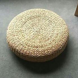 Ikea Wicker Foot Rest 64cm in diameter