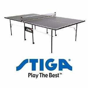 "NEW*STIGA IMPACT TABLE TENNIS TABLE 1/2"" BLACK TABLE TOP PING PONG PADDLE SPORT  TABLES RECREATION GAME 90973812"