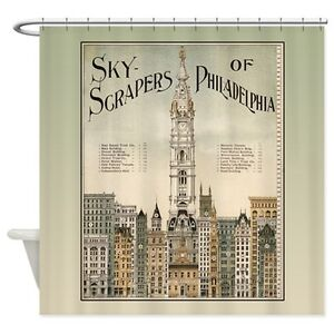 Skyscrapers Of Philadelphia Shower Curtain - new price