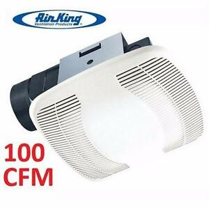 """NEW AIR KING SNAP-IN BATHROOM EXHAUST FAN   4"""" DUCT SIZE - SNAP IN BATH FAN VENTILATION  HOME HEATING VENTING 92255612"""