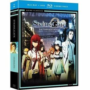 NEW BLU-RAY Steins; Gate SERIES   TV SERIES - ANIME - BLU-RAY + DVD COMBO PACK  MOVIES WATCHING  86528827