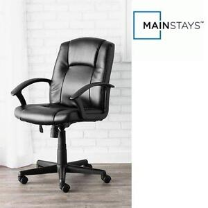 NEW MAINSTAYS MIDBACK OFFICE CHAIR BONDED LEATHER - MANAGER'S CHAIR 111249429