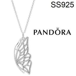 ce6b563ef NEW PANDORA SILVER PENDANT NECKLACE 390367cz-90 212075333 NEW BEGINNING  BUTTERFLY PENDANT CUBIC ZIRCONIA STAMPED
