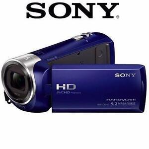 "NEW OB SONY HD HANDYCAM CAMCORDER 1080P VIDEO CAMERA 2.7"" LCD - BLUE 97492219"