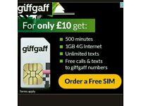 Free giffgaff sim cards