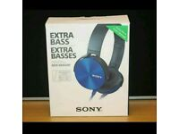 BOXED SONY EXTRA BASS MDR-XB450AP HEADPHONES RRP £90