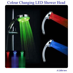 Multi-Colour Changing Temperature Sensitive LED Bathroom Shower Head Llight Up