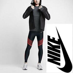 NEW NIKE RUNNING TIGHTS MEN'S MED POWER SPEED CARDIO LEGGINGS - DRI FIT - CLOTHING ATHLETIC PANTS BOTTOMS