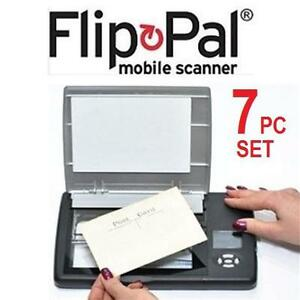NEW 7PC FLIP PAL MOBILE SCANNER SET - 110184975 - MOBILE IMAGE SCANNER WITH ACCESSORIES