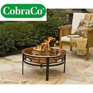 USED COBRACO FIRE PIT   COPPER MISSION FIRE BOWL OUTDOOR PATIO HEATING  89690911