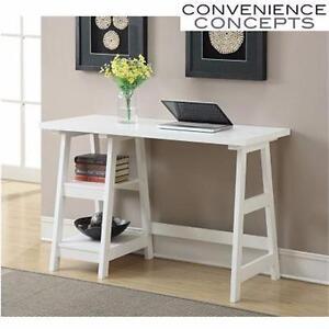 NEW* CC WHITE TRESTLE DESK CONVENIENCE CONCEPTS - DESIGNS-2-GO HOME FURNITURE OFFICE DECOR WORK STATION 93687104
