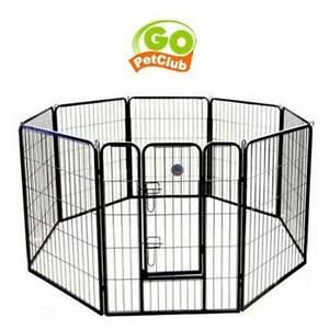 NEW GO PET CLUB GH EXERCISE PEN HEAVY DUTY PET PLAY AND EXERCISE PEN WITH 8 PANELS