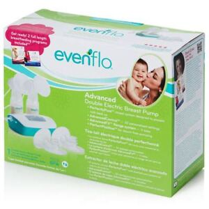 Evenflo Advanced Double Electric Breast Pump + 2 Adapters