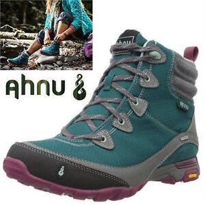 NEW AHNU HIKING BOOT WOMEN'S 7 TEAL SUGARPINE HIKING BOOT - SPORTS OUTDOORS SHOES - TREKKING trails 76768418