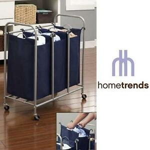 "NEW HT 3-BIN LAUNDRY SORTER HOMETRENDS - STORAGE  ORGANIZATION - HOME - 31.2""x16.9""x33.6"" 104388837"