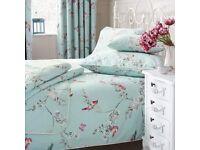 Beautiful Birds Duck-Egg Duvet coves/pillow cases Caravan House? 4 singe 1 double