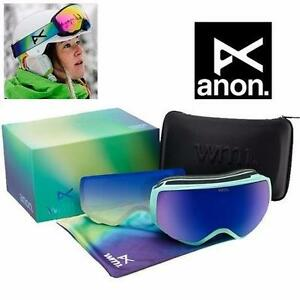 NEW WOMEN'S ANON WM1 GOGGLES   MINT/COBALT BLUE W/ SPARE LENS - SKIING SNOWBOARDING GLASSES WINTER SPORTS 89016685