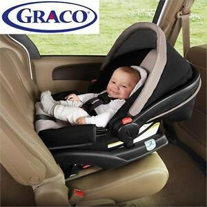 NEW GRACO SNUGRIDE CLICK CAR SEAT CLICK CONNECT CAR SEAT - BLACK AND TAN - PIERCE - KIDS CAR CARS INFANT SAFETY 79712903