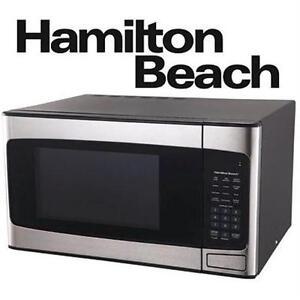 NEW HAMILTON BEACH SS MICROWAVE 1.1 CU FT - STAINLESS STEEL - APPLIANCES 76408978