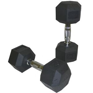 Lowest Price Guaranteed on Rubber Hex Dumbbells