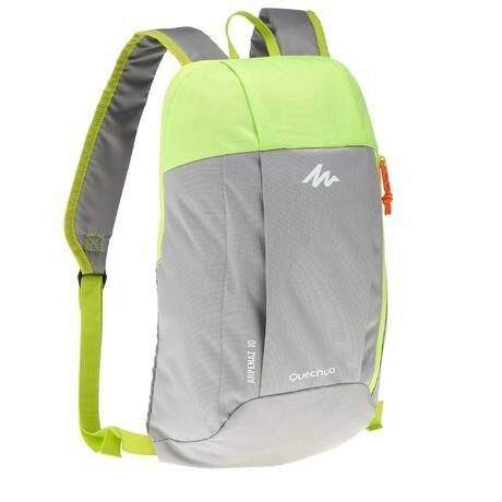 b96a3b43795d0 Decathlon Quechua Nh100 10-L Hiking running cycling Backpack – Grey Green
