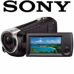 NEW OB SONY HD HANDYCAM CAMCORDER VIDEO CAMERA FULL HD 8GB INTERNAL MEMORY ZEISS LENS HDRCX440 ELECTRONICS 97228567