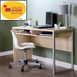 NEW* SOUTH SHORE INTERFACE DESK NATURAL MAPLE - HOME FURNITURE DECOR OFFICE STUDENT SCHOOL  82670956