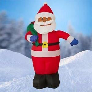 6 FT Airblown Inflatable Santa Claus Christmas Decoration w/ Inside Lights 136S7