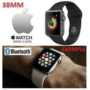 NEW APPLE WATCH SERIES 3 38MM MQKV2LL/A 201086246 SPACE GREY ALUMINUM W/ BLACK SPORT BAND GPS