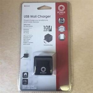 NEW, Power Gear AC to USB 1 Port Adapter 1.0 Amp with Folding Prongs