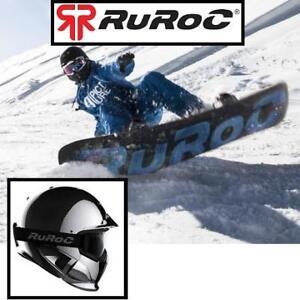 NEW SNOWBOARD HELMET MED/LG HERG1XSCSC06000 143573610 RUROC 57 CM - 60 CM RG1-DX SHADOW CHROME SKI WINTER SPORTS