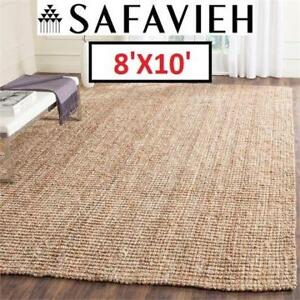 NEW SAFAVIEH NATURAL FIBER AREA RUG NF447A-8 191122835 8' x 10' BEIGE RUGS CARPET FLOORING DECOR ACCENTS MATS PADS