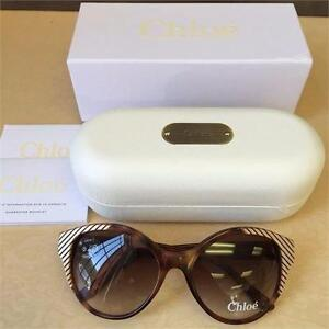 NEW, Aunthentic Chloe Sunglasses CL 2247 C02 Acetate plastic Havana Gradient Bro