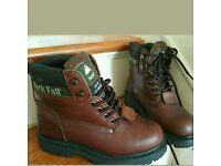 rock fall Steel toe boots size 5