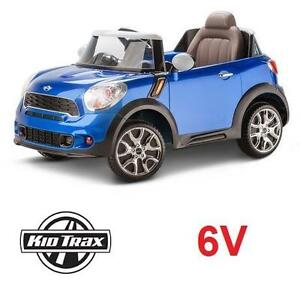 USED KIDTRAX 6V MINI COOPER RIDE ON BLUE - PACEMAN EDITION - 6 VOLT - RIDE ONS RIDE-ON TOY CAR CARS RIDE-ONS DRIVING