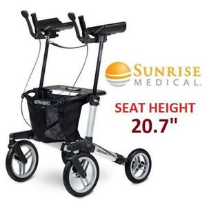 NEW SUNRISE MEDICAL GEMINO WALKER 7160220 255711377 60 M TOTAL HEIGHT 89.5CM TO 98.5CM SEAT HEIGHT 20.7