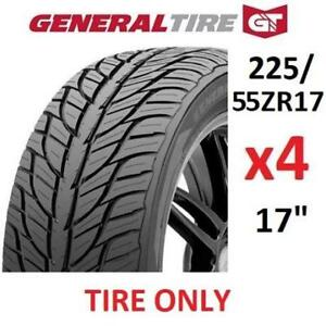 "4 NEW GENERAL G-MAX AS-03 TIRES 1549018 180796660 17"" ALL SEASON 225/55ZR17 97W"