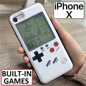 NEW IPHONE X GAMEBOY CASE 9 BUILT IN VIDEO GAMES - BATTERIES INC